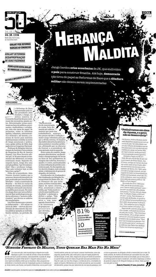 O Dia - Série 50 anos golpe  - Vencedora do Prêmio SND