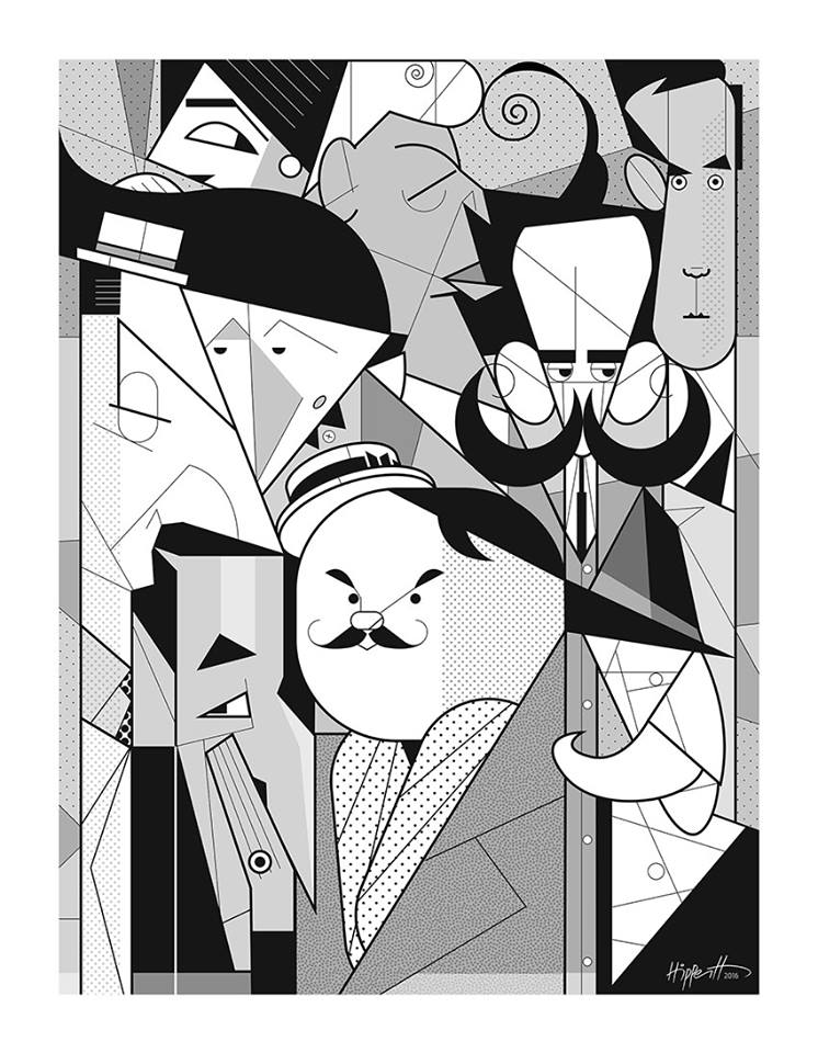 Grandes mestres da arte, caricatura e ilustracão: Anita Malfati, Di Cavalcanti, Luiz Peixoto, J. Carlos, Fritz, Helios, Klixto, Raul Pederneiras e Seth