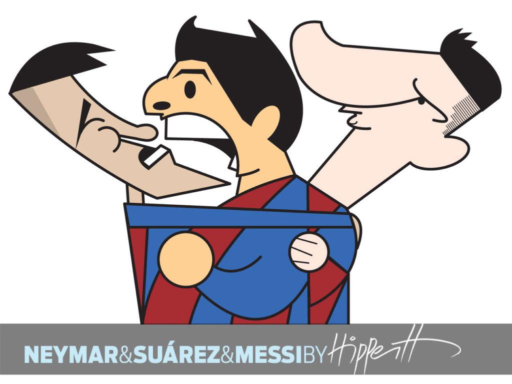 Neymar, Suárez e Messi