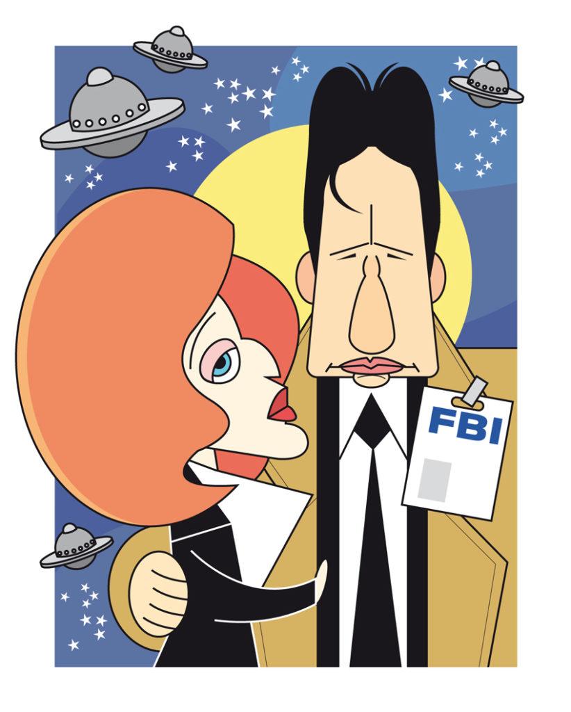 Mulde e Scully em Arquivo X