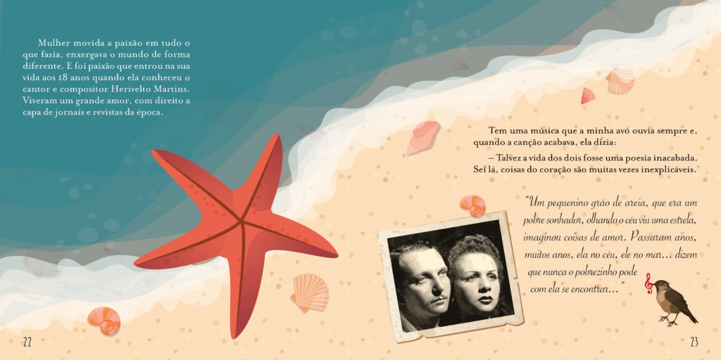 """Ilustração para o livro """"Dalva, minha vó e eu"""""""
